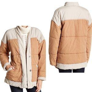 Free People Poplin puffer jacket